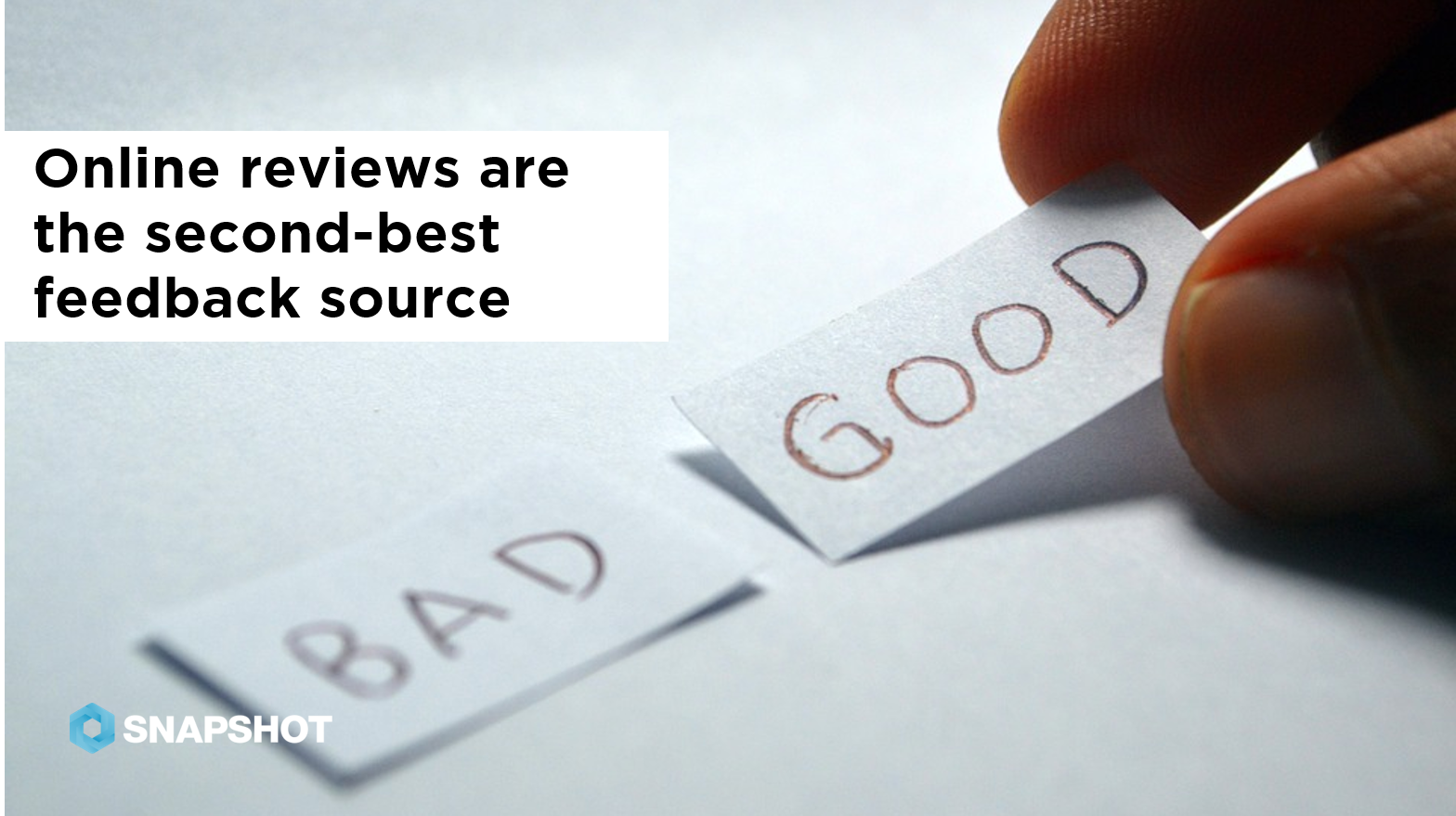09.27.2019 Online reviews are the second best feedback source